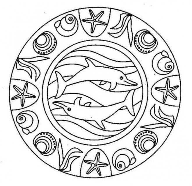 Coloriage Mandala La Mer En Ligne Dessin Gratuit À Imprimer dedans Coloriage En Ligne Mandala