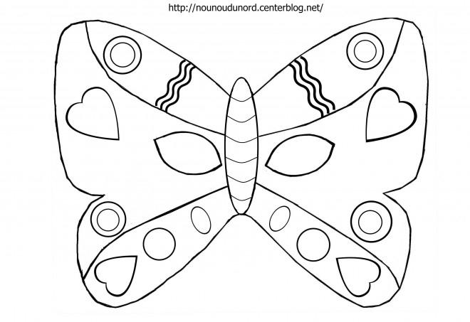 Coloriage Masque Papillon Dessin Gratuit À Imprimer tout Masques Animaux À Imprimer