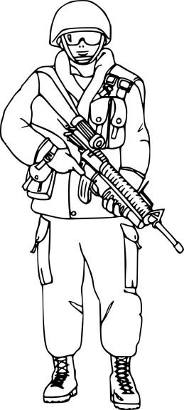 Coloriage Militaire À Imprimer destiné Dessin D Arme De Guerre