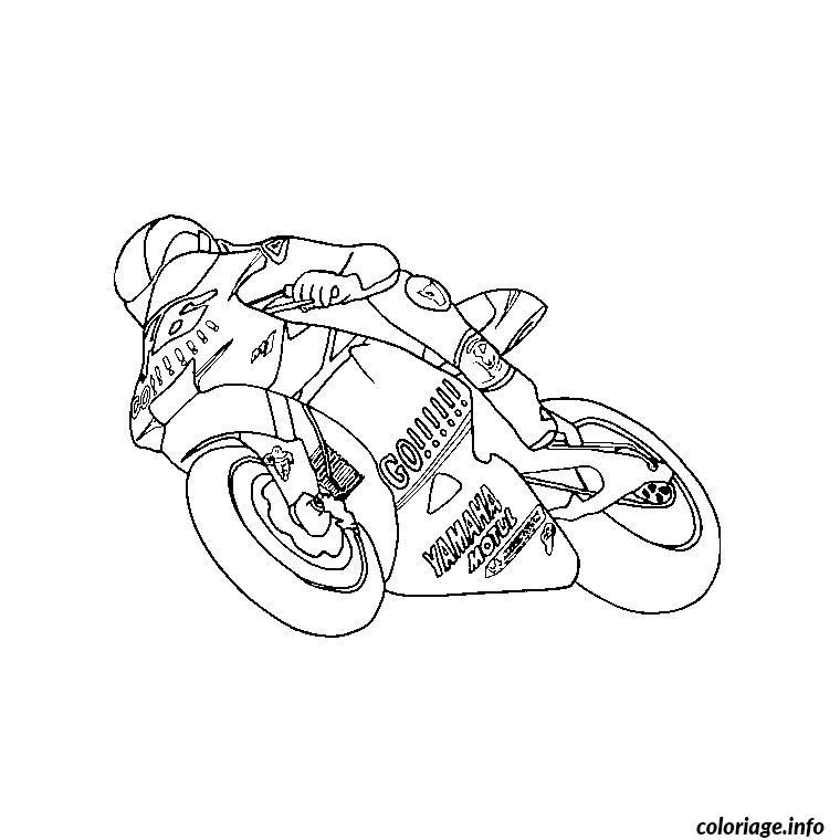 Coloriage Moto Course Dessin Moto À Imprimer avec Coloriage Moto De Course À Imprimer