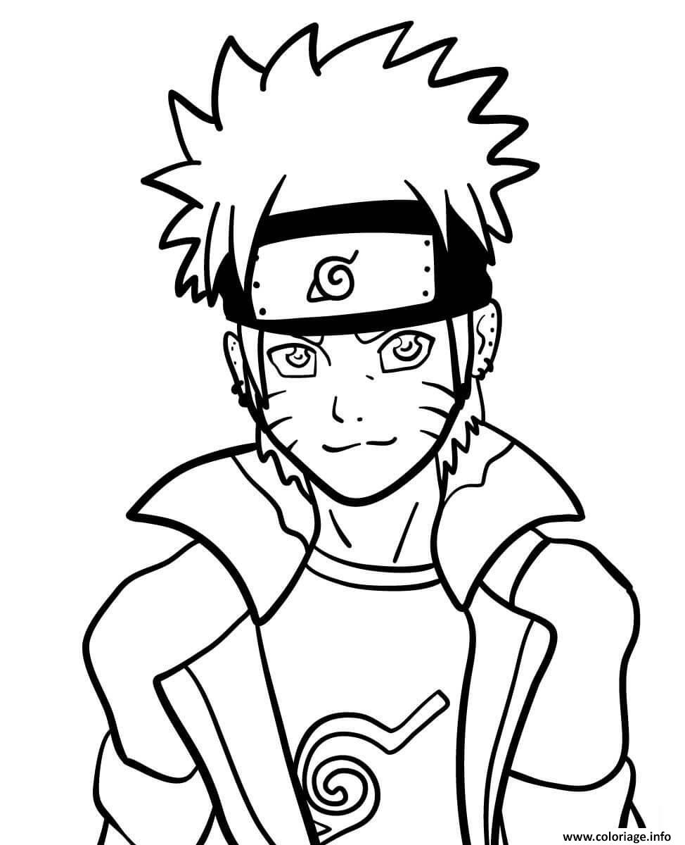 Coloriage Naruto Dessin Naruto À Imprimer avec Coloriage De Naruto Shippuden A Imprimer