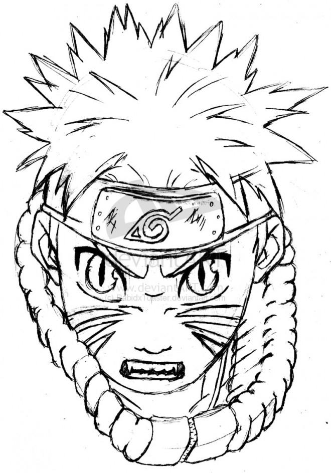 Coloriage Naruto Jeune Ninja Dessin Gratuit À Imprimer intérieur Dessin Facile Naruto
