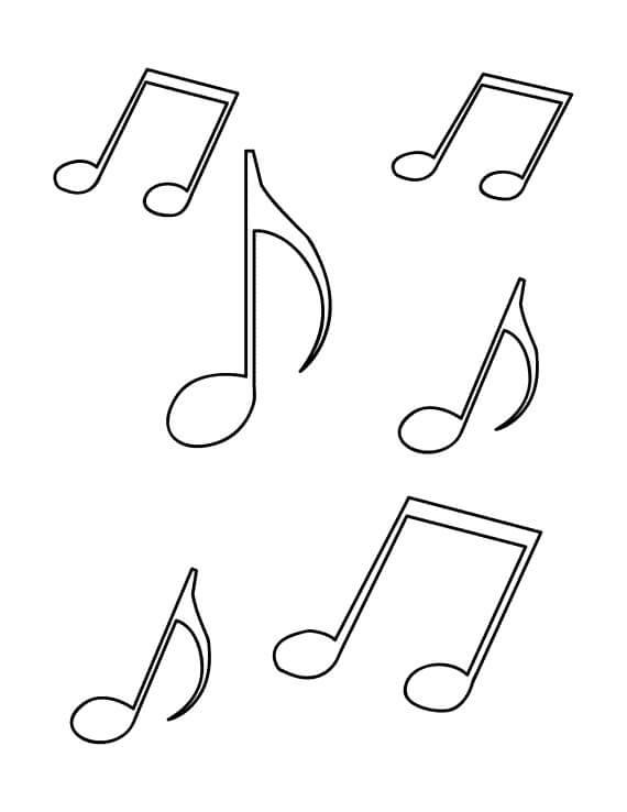 Coloriage Note De Musique Simple Dessin Gratuit À Imprimer destiné Note De Musique A Colorier