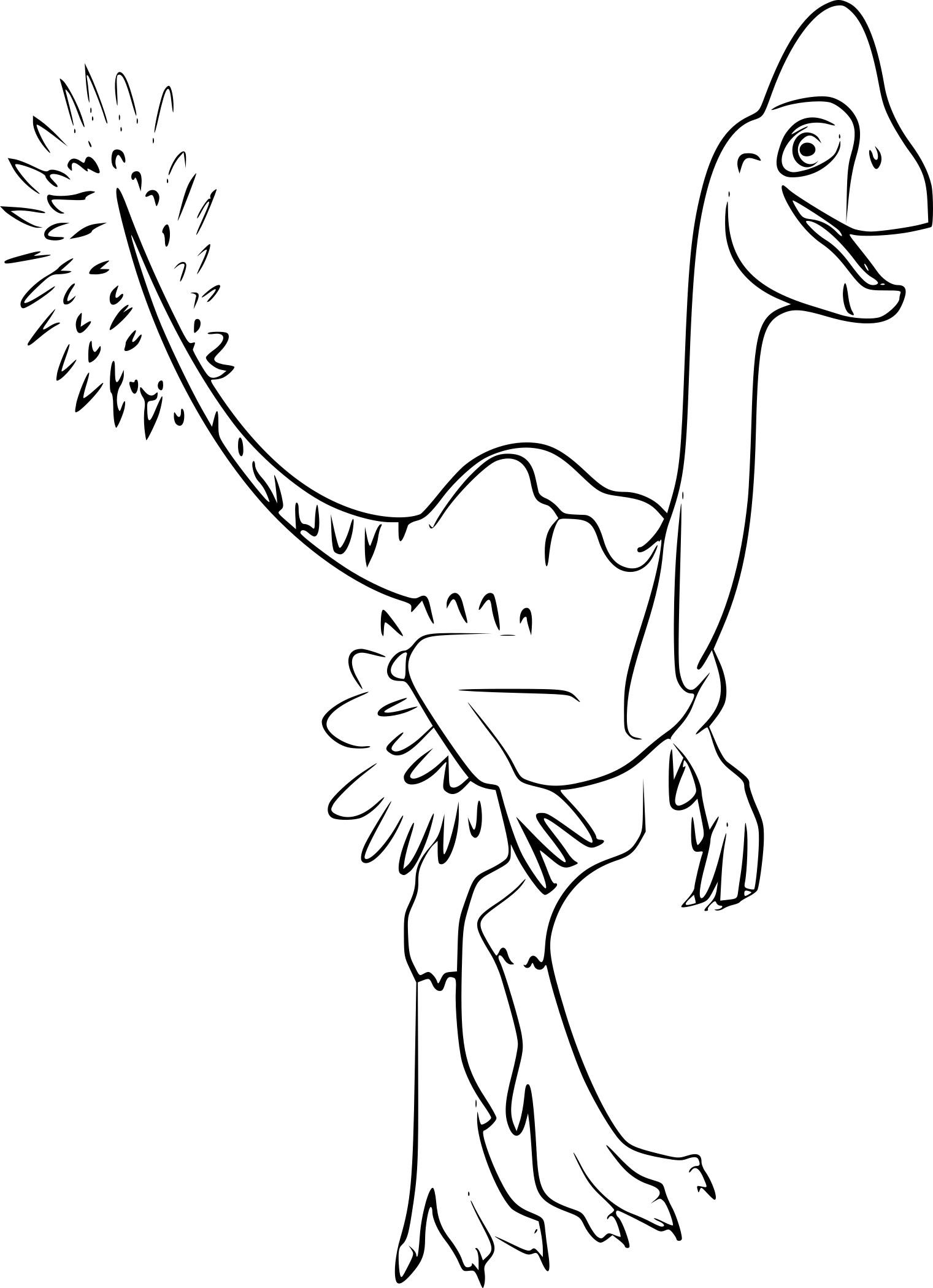 Coloriage Oviraptor Dinosaure À Imprimer pour Coloriage Dinosaure Imprimer