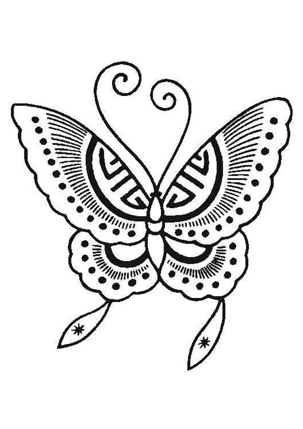 Coloriage Papillon Difficile Gratuit À Imprimer encequiconcerne Dessin A Decouper