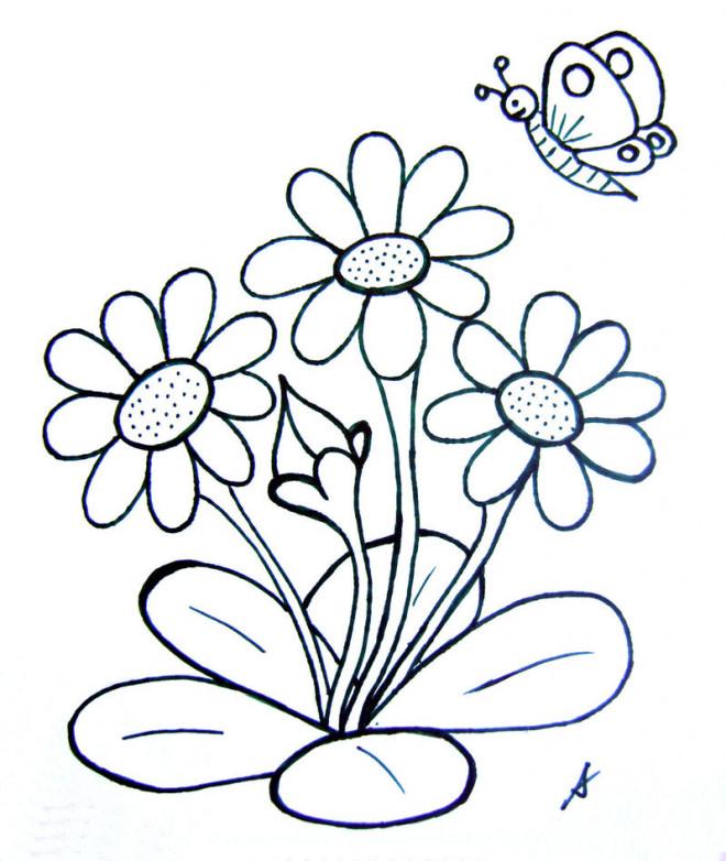 Coloriage Papillon Et Fleurs En Printemps Dessin Gratuit À serapportantà Coloriage De Papillon Sur Une Fleur