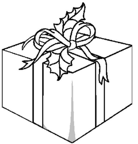 Coloriage Paquet Cadeau Dessin Gratuit À Imprimer à Dessin Cadeau De Noel