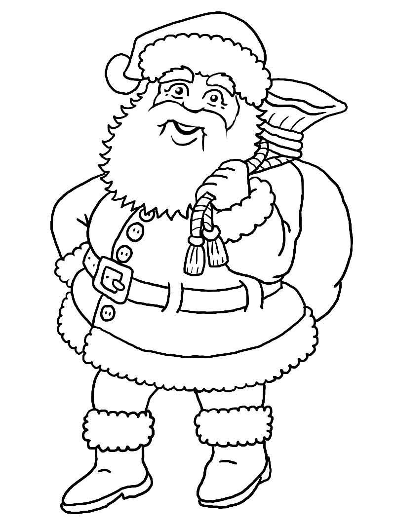 Coloriage Père Noël #104752 (Personnages) - Album De pour Coloriage De Pere Noel A Imprimer Gratuitement