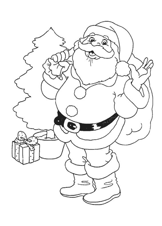 Coloriage Père Noël À Colorier serapportantà Traineau Du Pere Noel A Colorier