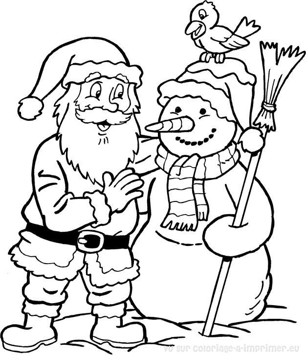 Coloriage Pere Noel Et Lutins à Dessin A Imprimer Pere Noel Gratuit