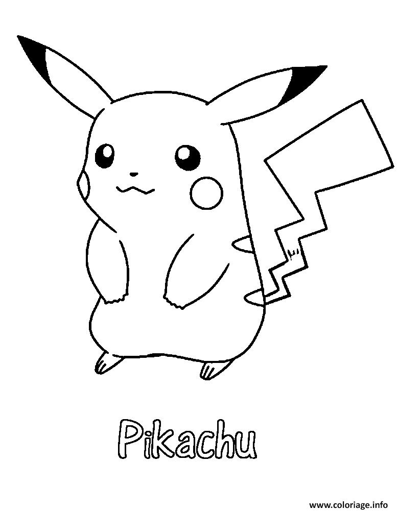 Coloriage Pikachu 31 Dessin Pikachu À Imprimer concernant Dessin Facile Pikachu