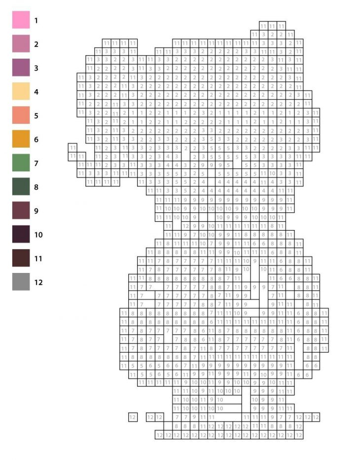 Coloriage Pixel Art Mystère À Numéros Pour Imprimer dedans Coloriage Pixel Gratuit