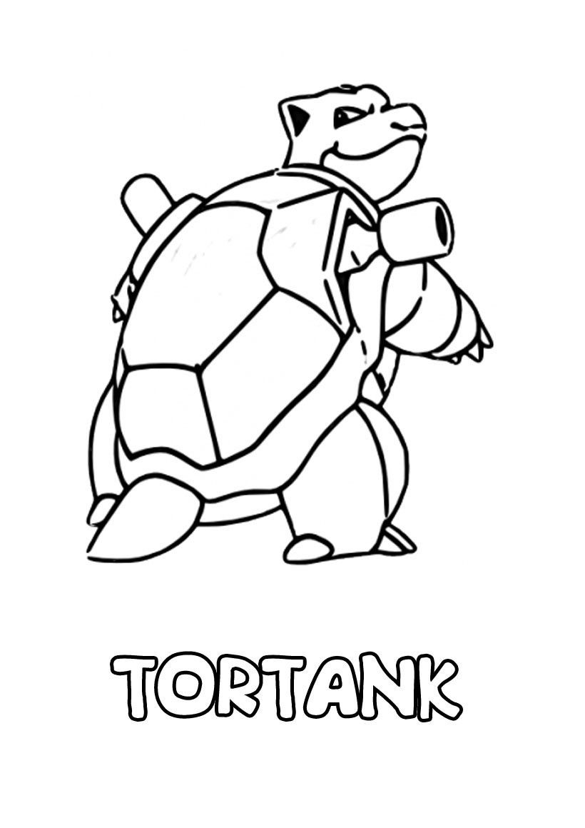 Coloriage Pokemon Tortank Ex En 2020 | Coloriage Pokemon avec Pokemon Ex Coloriage