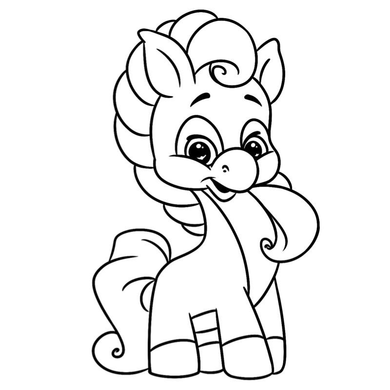 Coloriage Poney #13 - Un Dessin À Imprimer De Tête À Modeler pour Poney A Imprimer