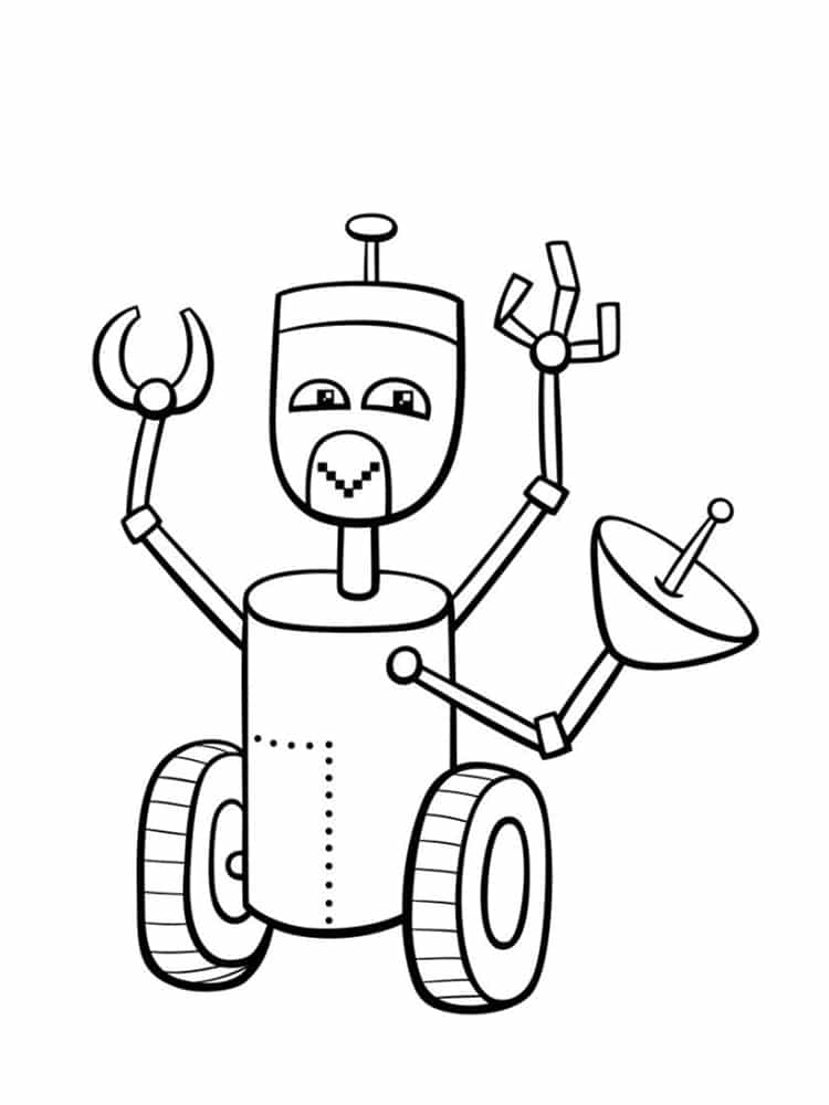 Coloriage Robot : 30 Dessins À Imprimer Gratuitement dedans Coloriage Robot À Imprimer