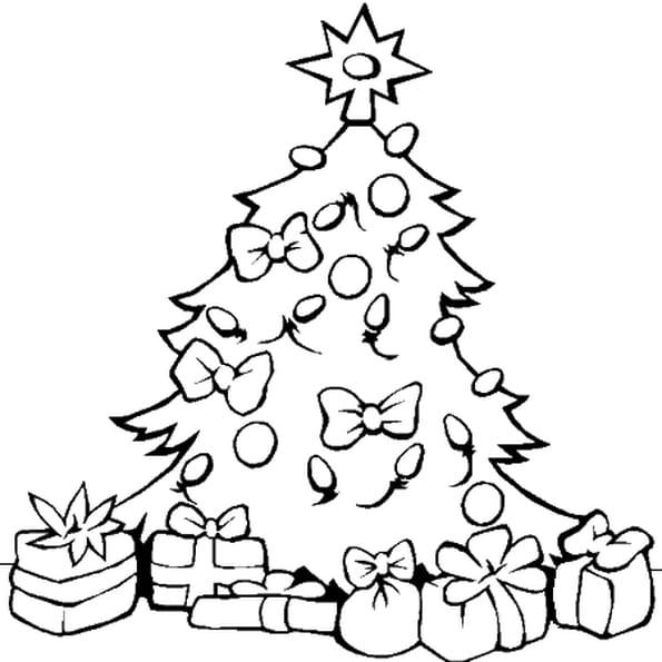 Coloriage Sapin De Noël Et Ses Cadeaux En Ligne Gratuit À intérieur Coloriage De Sapin De Noel A Imprimer Gratuit