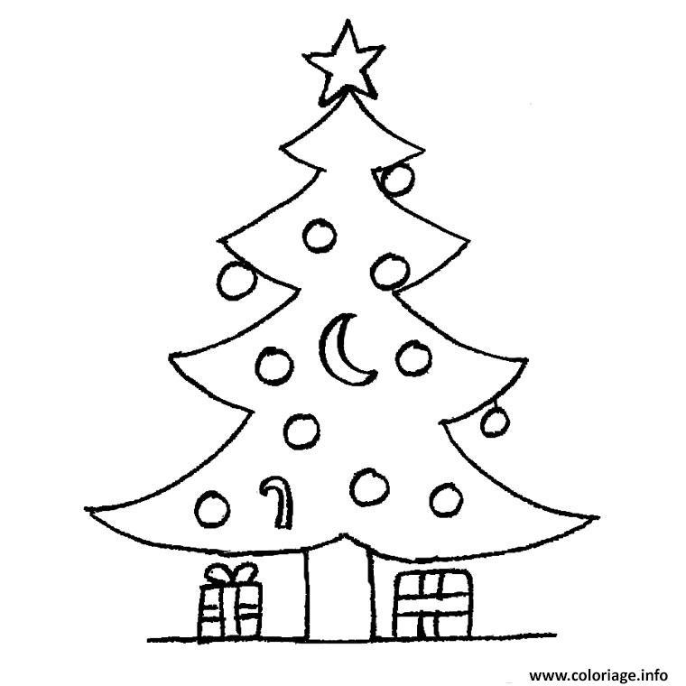 Coloriage Sapin Noel Cadeau Dessin Sapin Noel À Imprimer serapportantà Dessin Cadeau De Noel