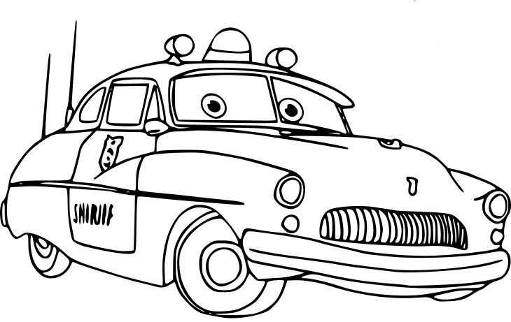 Coloriage Sheriff (Cars) À Imprimer Et Colorier serapportantà Dessin Voiture De Police A Imprimer