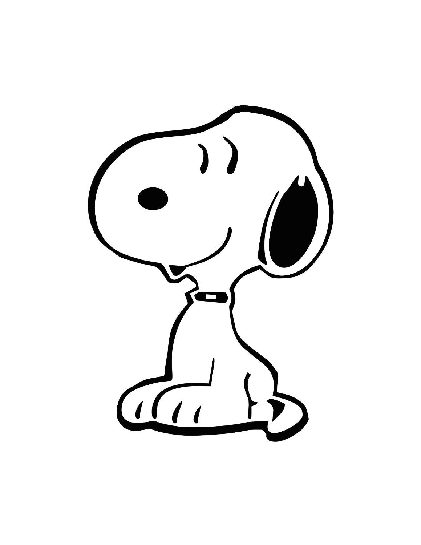 Coloriage Snoopy #27108 (Dessins Animés) - Album De Coloriages encequiconcerne Dessin De Snoopy