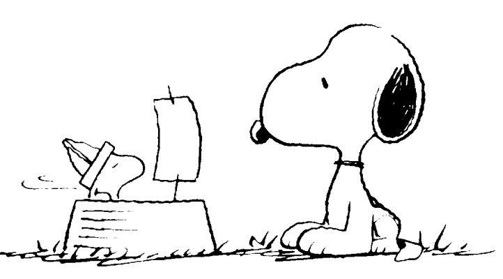 Coloriage Snoopy #27160 (Dessins Animés) - Album De Coloriages tout Dessin De Snoopy