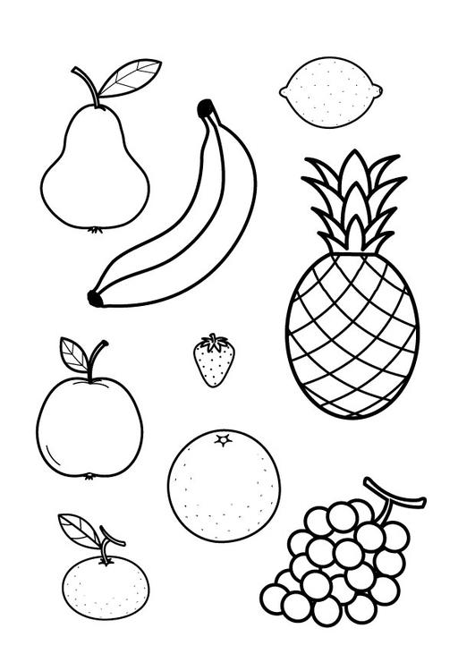 Coloriage Toutes Sortes De Fruits - Coloriages Gratuits À à Fruit A Dessiner