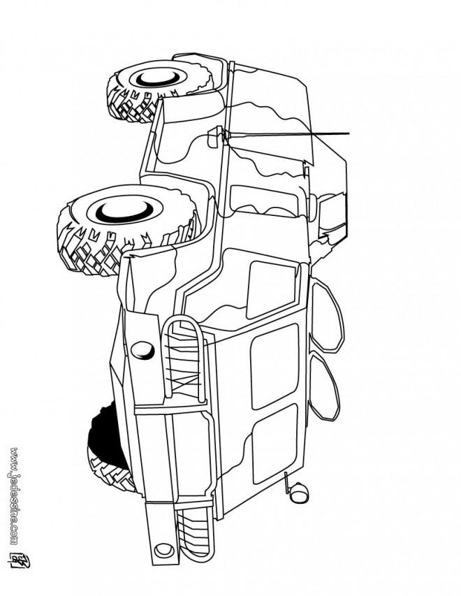 Coloriage Un Char Blindé Dessin Gratuit À Imprimer concernant Dessin Char