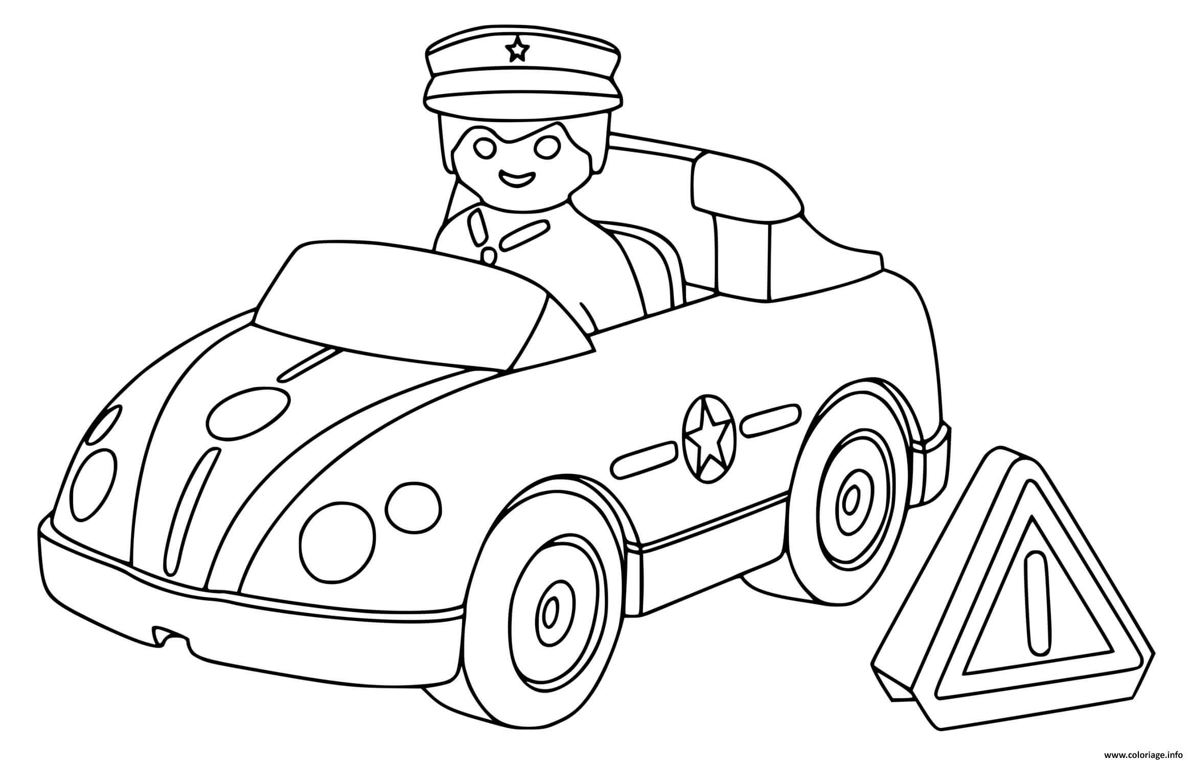 Coloriage Voiture De Police Playmobil Dessin Voiture De intérieur Dessin Voiture De Police A Imprimer