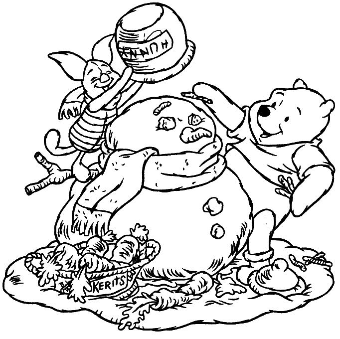 Coloriage Winnie L'Ourson #28854 (Films D'Animation pour Winnie L Ourson A Colorier