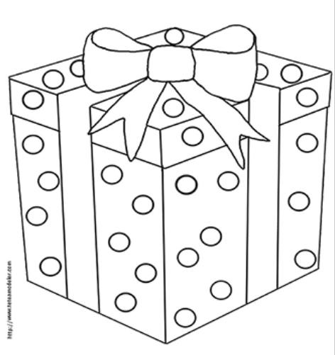 Coloriages De Cadeaux, Des Dessins De Cadeaux À Imprimer intérieur Dessin Cadeau De Noel