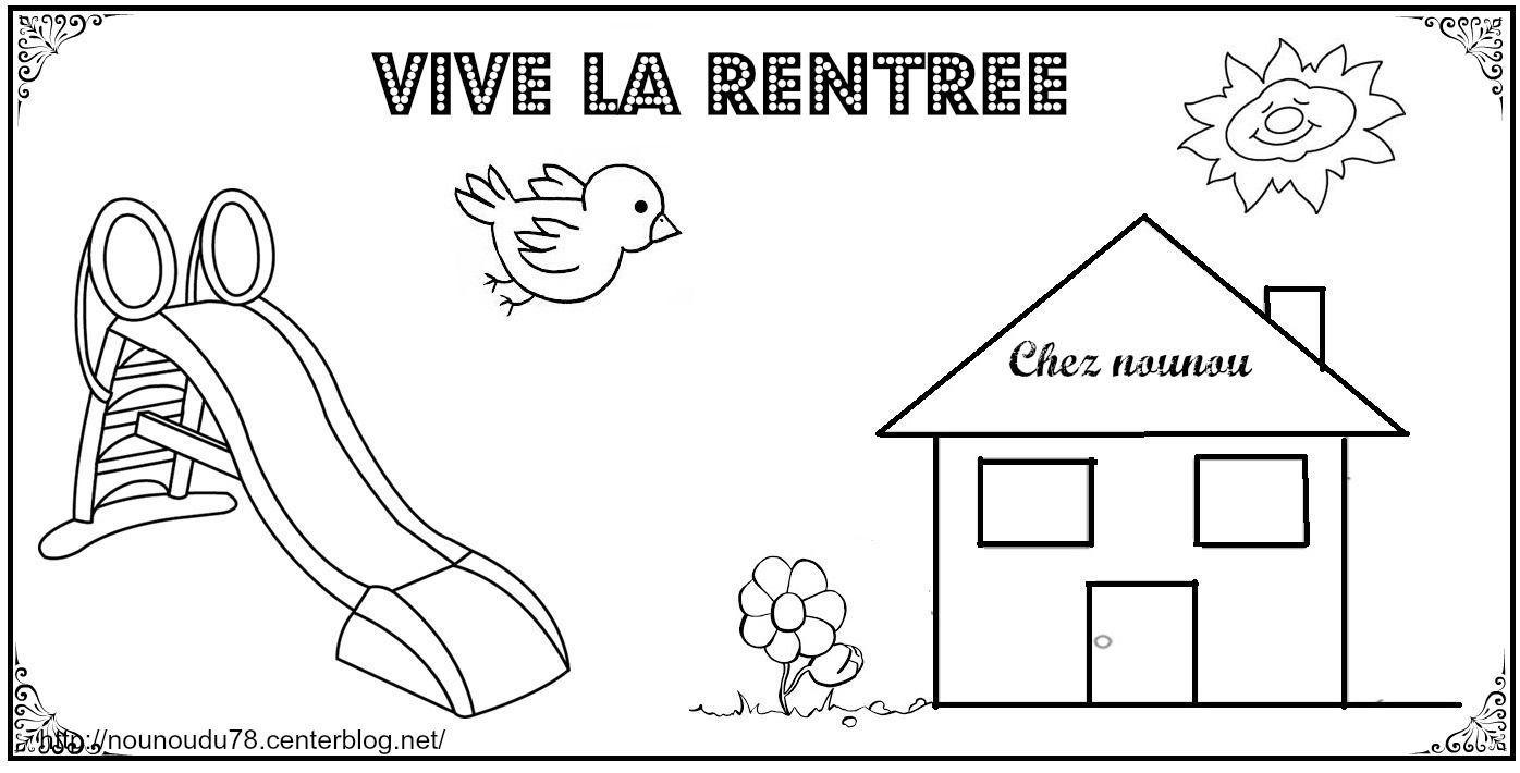 Coloriages De La Rentree à La Rentrée Maternelle