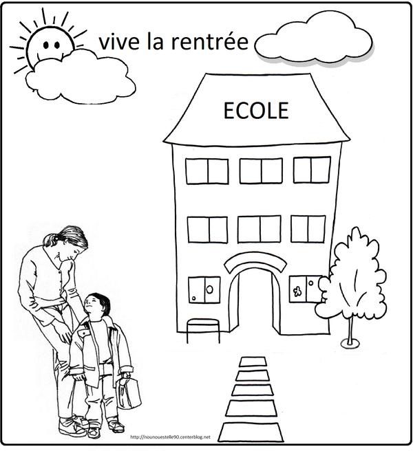 Coloriages Pour La Rentree Des Classes à Poésie C Est La Rentrée