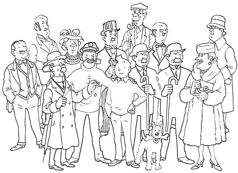 Coloriages Tintin (Dessins Animés) - Page 2 - Album De tout Personnage A Colorier