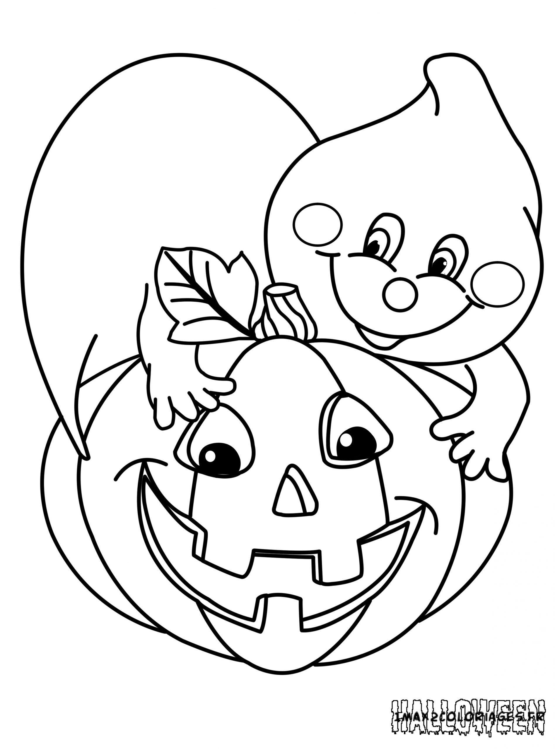 Coloriages Une Citrouille D'Halloween A Imprimer serapportantà Dessin Citrouille Halloween Imprimer