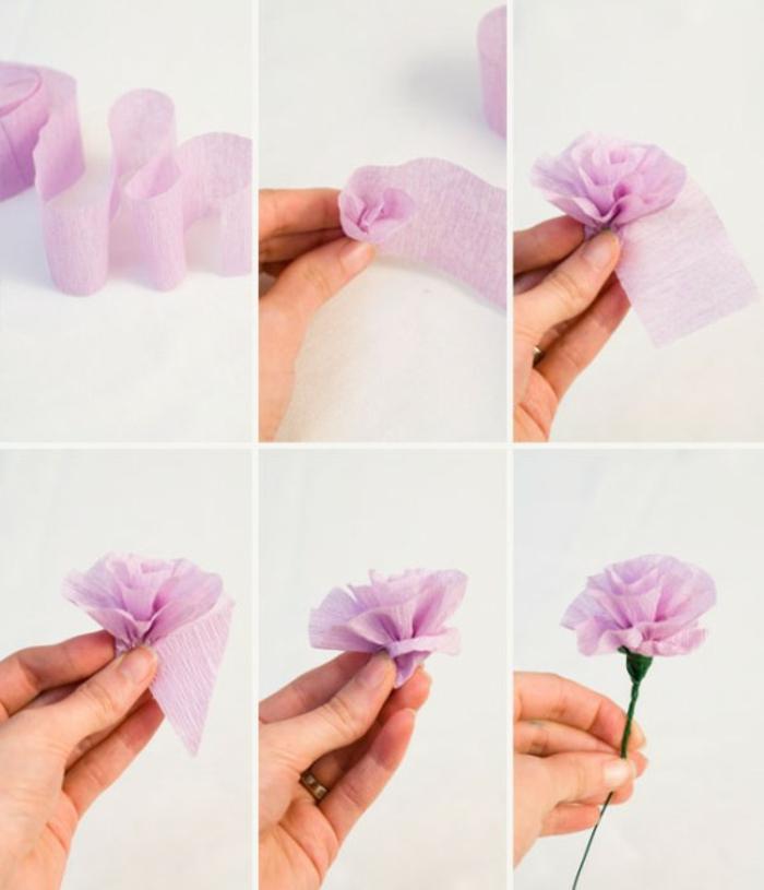 Comment Créer Une Fleur En Papier Crépon - Archzine.fr intérieur Comment Faire Une Rose Avec Du Papier