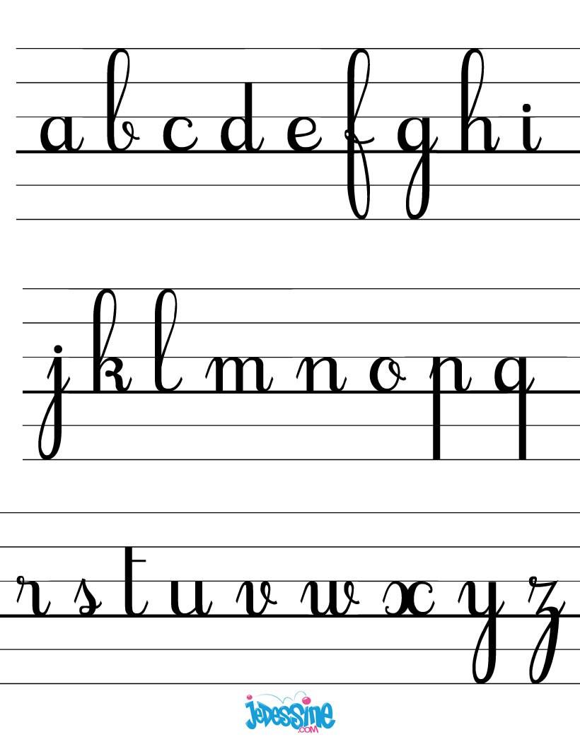 Comment Dessiner Les Lettres Cursives Minuscules - Fr pour Apprendre À Écrire L Alphabet En Maternelle