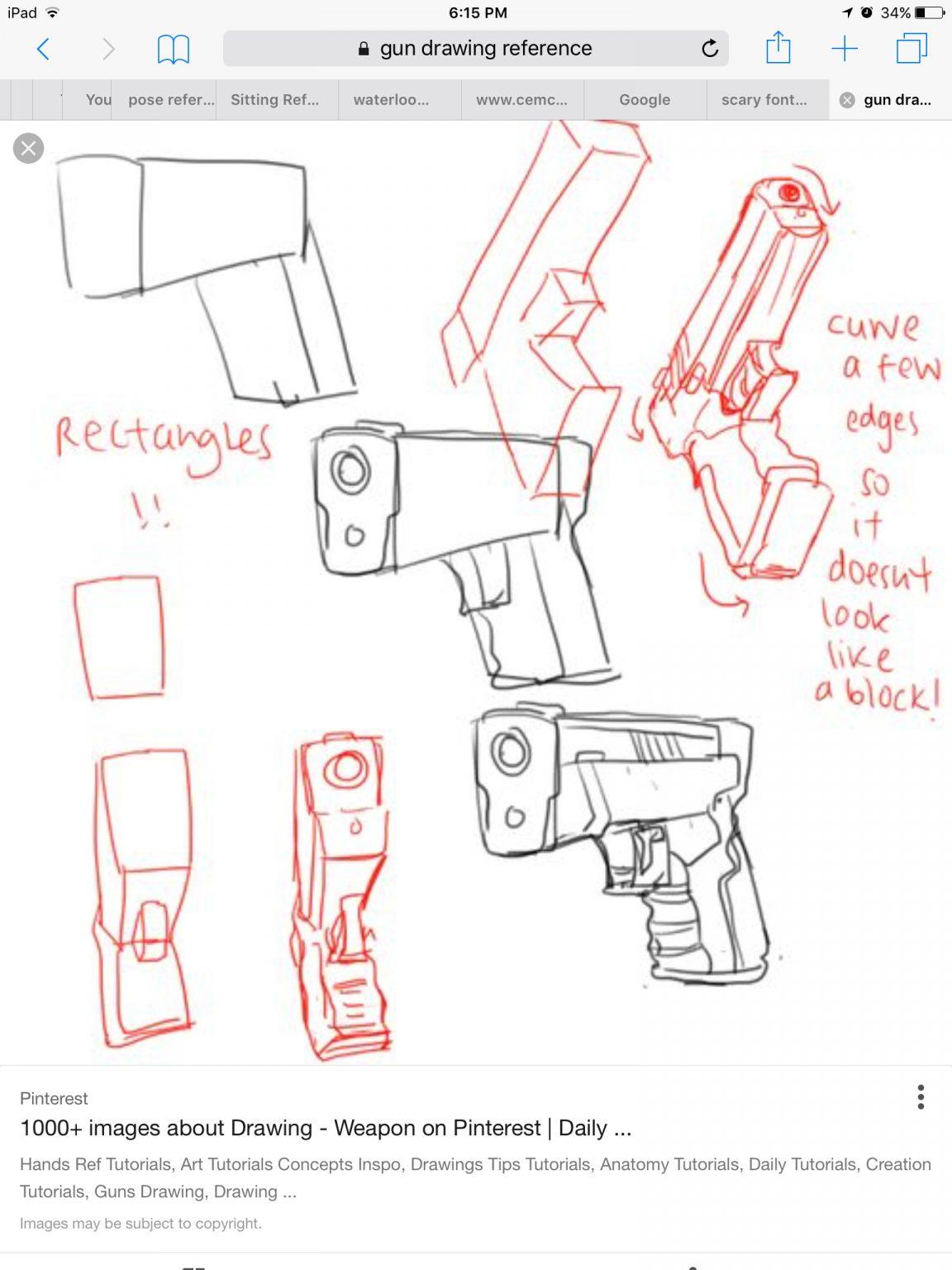 Comment Dessiner Un Fusil - Primanyc destiné Comment Dessiner Un Fusil