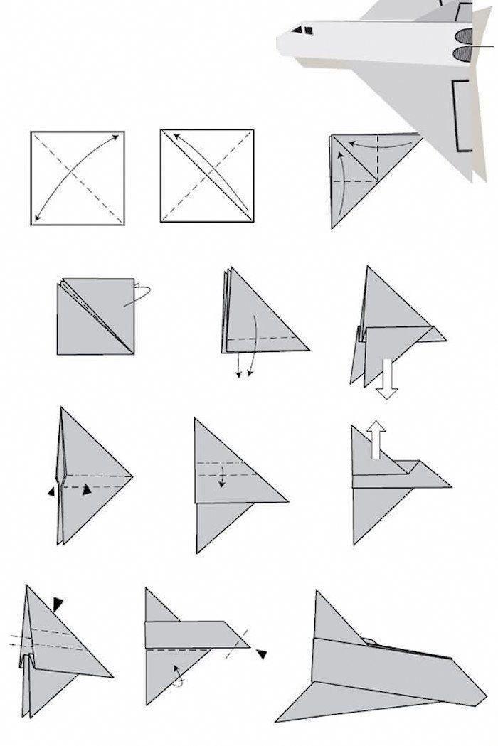 Comment Faire Un Avion En Papier : La Navette Spatiale # encequiconcerne Comment Faire Un Avion En Papier Pro