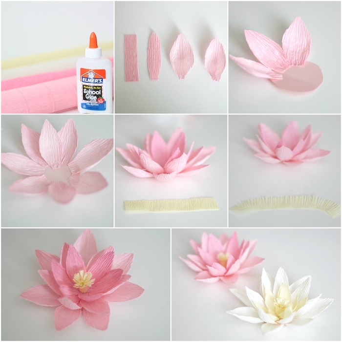 Comment Faire Une Fleur En Papier - Plusieurs Tutoriels Et destiné Comment Faire Une Rose Avec Du Papier