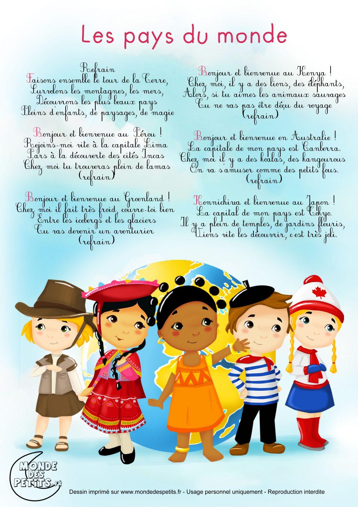Comptine-Chanson-Enfant-Monde (2480×3508)   Comptines À serapportantà Écouter Comptines Pour Bébé