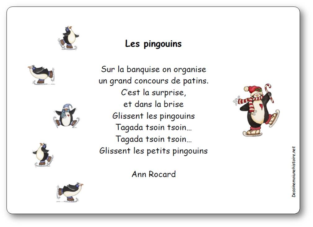 Comptine Les Pingouins D'Ann Rocard - Paroles Illustrées intérieur Musique De Pingouin