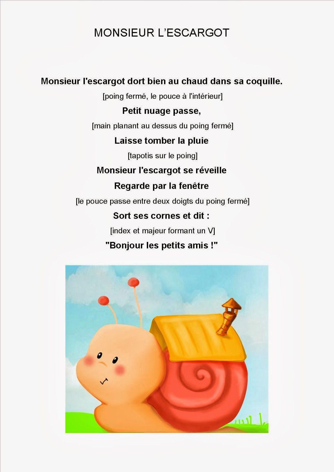 Comptine#12 Monsieur L'Escargot Janvier | Comptines concernant Petit Éléphant Chanson