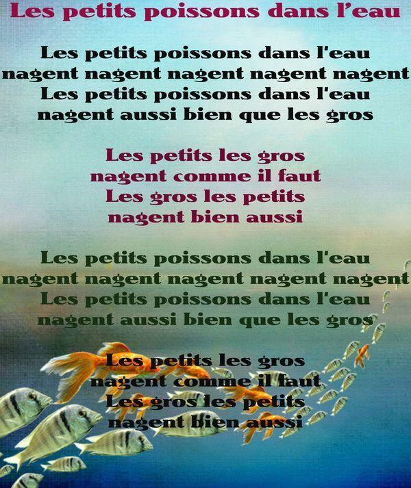 Comptines Et Chansons encequiconcerne Les Petis Poissons