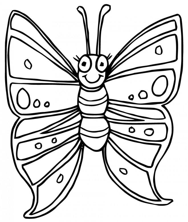 Cool Colorier Dessin Papillon Facile - Random Spirit destiné Dessin Papillon À Colorier