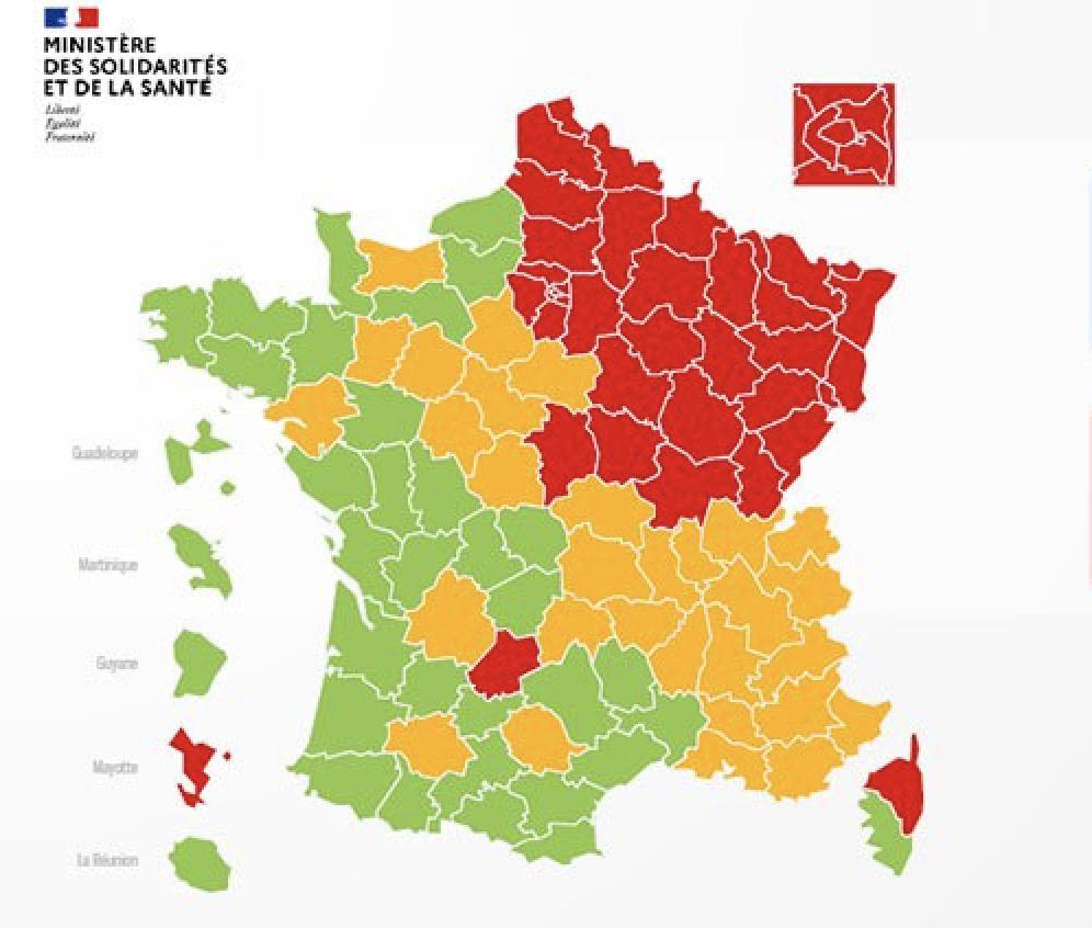 Coronavirus : Carte De France Du Déconfinement Par à Département 30 Carte