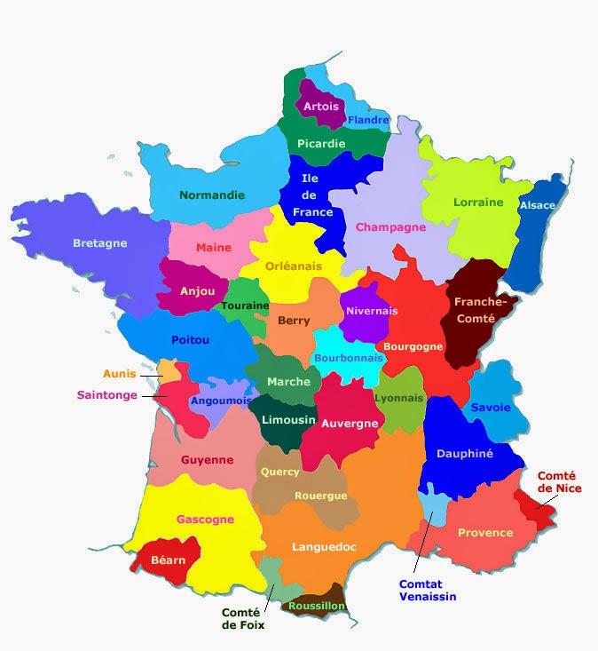 Coronel Von Rohaut: Las Regiones Francesas destiné Régions De France Liste