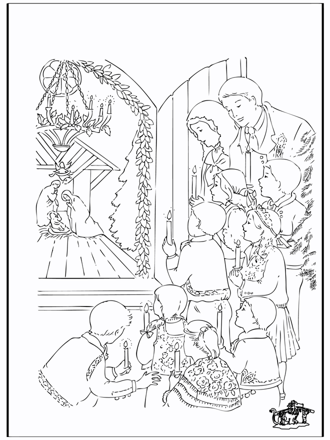 Crèche De Noël 5 - Coloriages De L'Histoire De Noël avec Creche De Noel Coloriage
