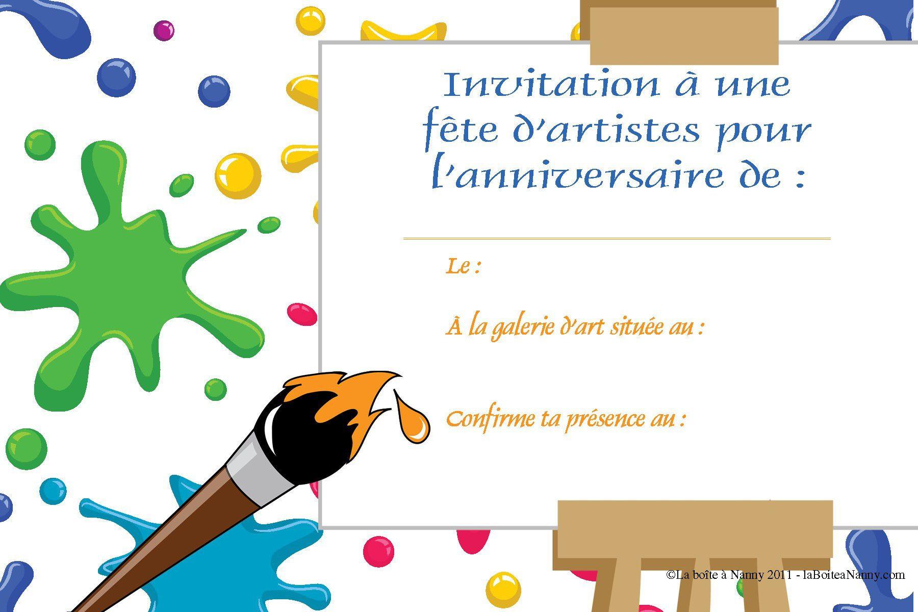 Créer Sa Carte D'Invitation Anniversaire Gratuite Unique encequiconcerne Faire Une Carte D Invitation Anniversaire Gratuite