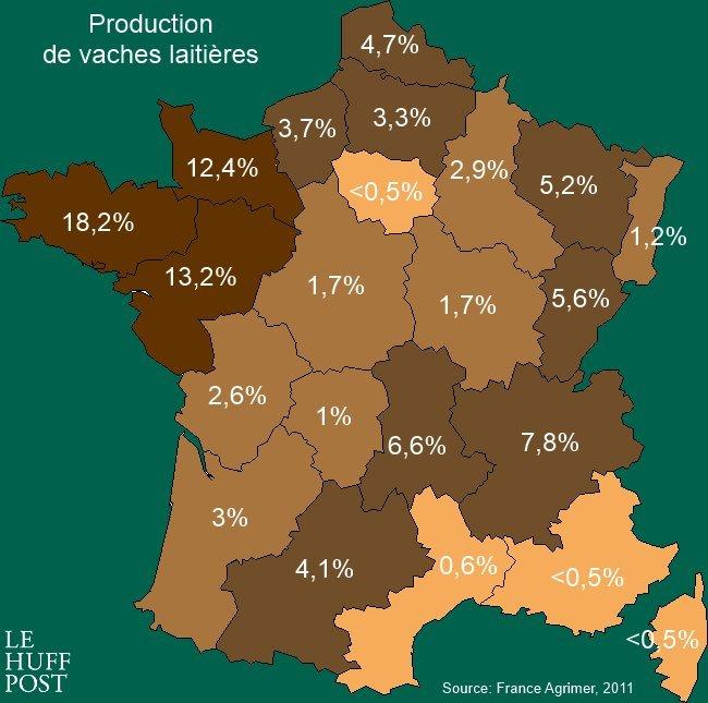 Crise Agricole: D'Où Viennent La Viande Que Vous Mangez Et concernant Combien De Region En France