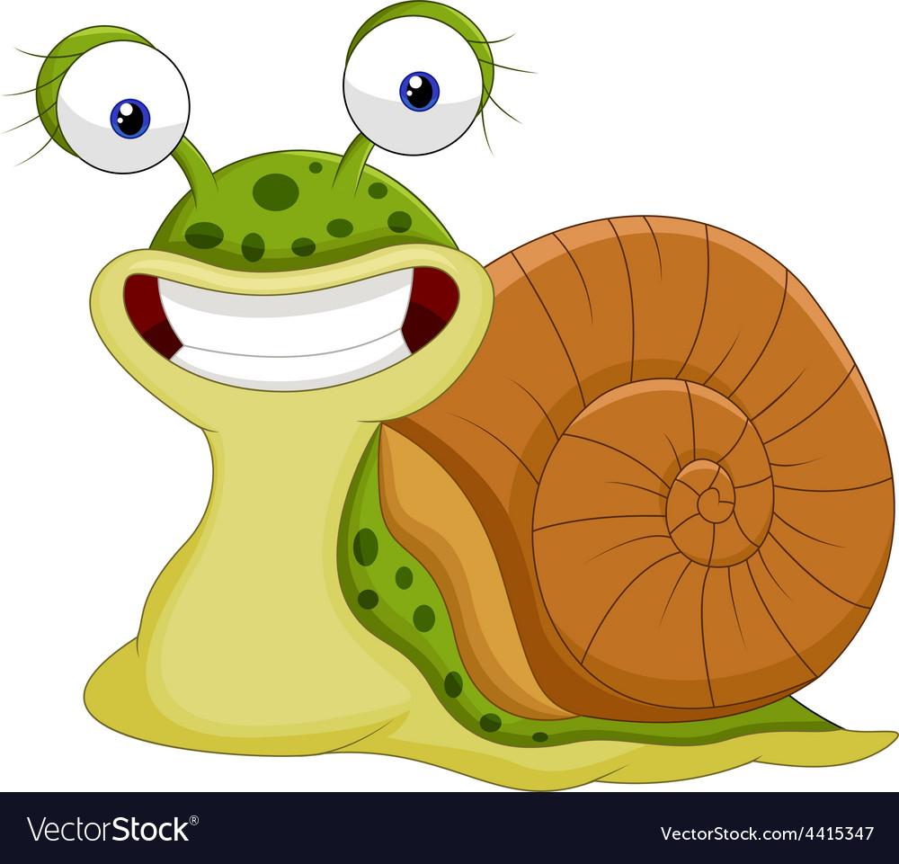 Cute Snail Cartoon Royalty Free Vector Image - Vectorstock concernant Escargot Rigolo Yookidoo