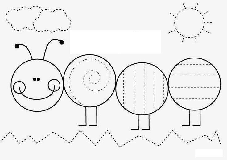 كتاب التخطيط والتلوين 2 | Chenille, Exercice Pour Enfant dedans Graphisme Papillon